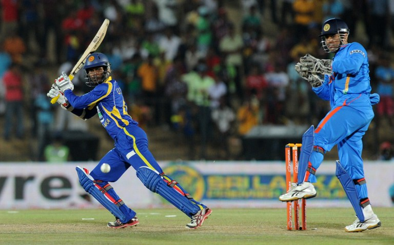 Upul Tharanga top scored for Sri Lanka during the run-chase.