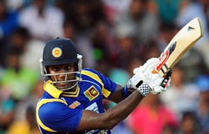 In Mahela Jayawardene's absence, Angelo Mathews captain Sri Lanka in the dead rubber against India. © AFP
