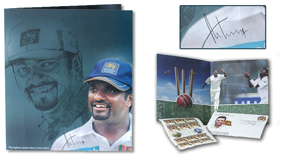 Muttiah Muralitharan first day cover