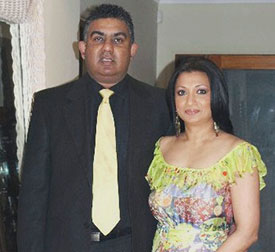 Asanka Gurusinha with wife Kushlani.