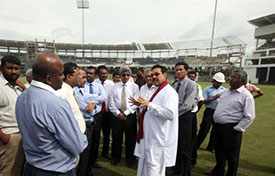 Sri Lanka Cricket officials meet with President Rajapaksa