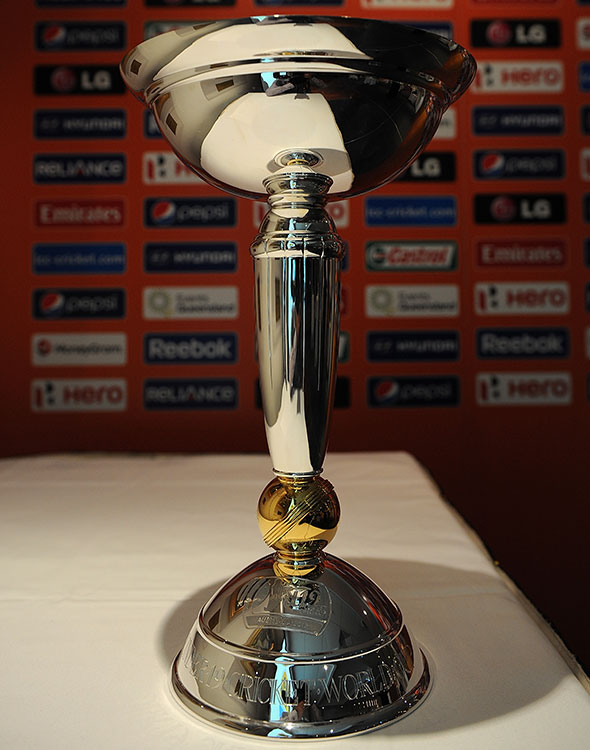 The under-19 Cricket World Cup trophy.