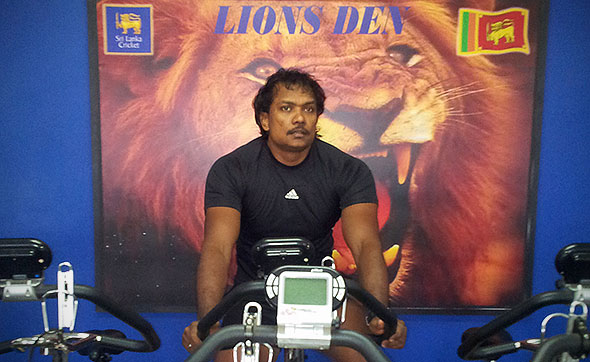 Tony Jayawardene at the SLC gym. © Island Cricket