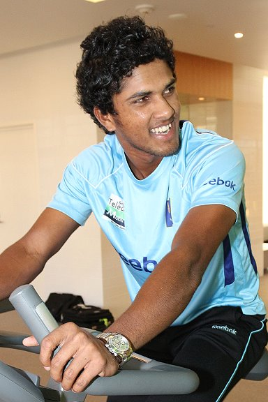 Dinesh Chandimal at the gym