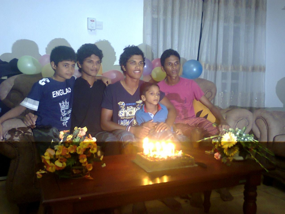 Chandimal at a birthday party