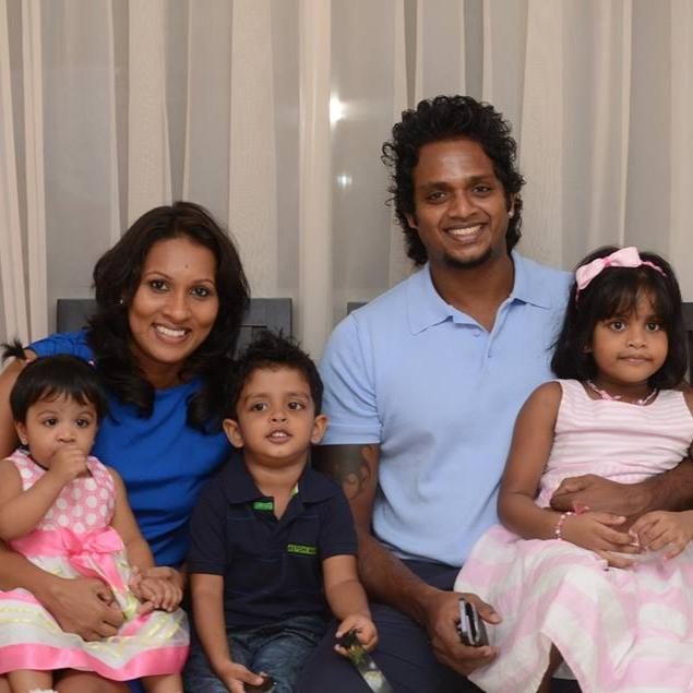 Dilhara Fernando and his family
