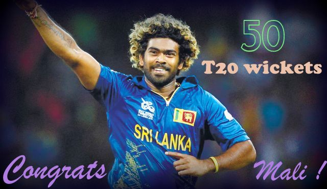 Fifty T20 wickets for Lasith Malinga