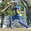 Rumesh Buddika in action - Singapore v Sri Lanka Under-23