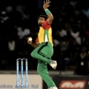 Lasith Malinga in action