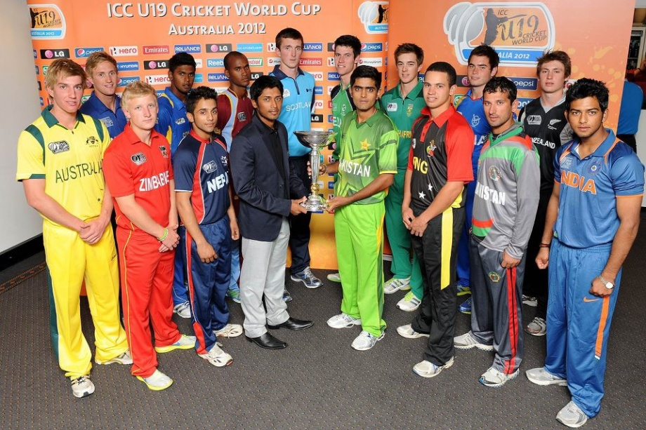 ICC U19 Cricket World Cup 2012 - Captains with the trophy