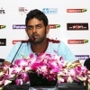 Lahiru Thirimanne at a press conference ahead of the CLT20 Qualifiers