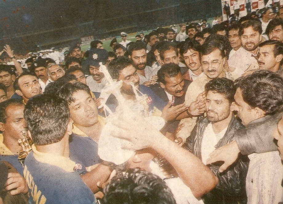 Minutes after the great cup win 1996