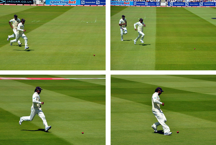 Sangakkara and Maharoof chase after the ball