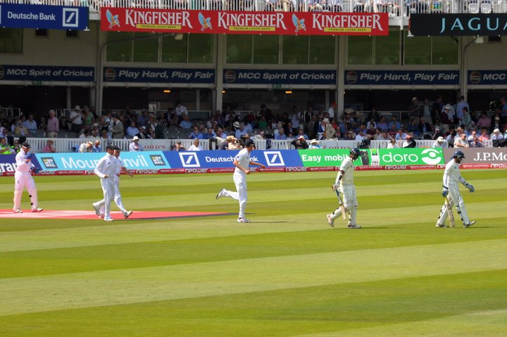 Openers walk out to bat at Lord's