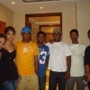 Sri Lankan cricketers with friends