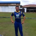 Dirk Nannes tries out the Sri Lanka ODI kit