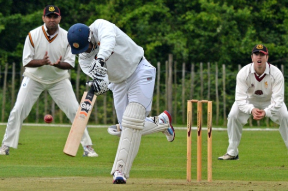 Prasanna Jayawardene batting for Woodhall Spa
