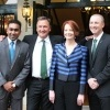 Mahela poses for a photo with Australian prime minister Gillard