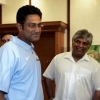 Arjuna Ranatunga and Anil Kumble during a function