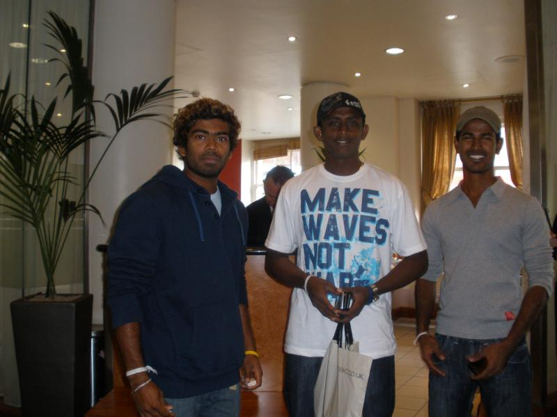 Three of the best bowlers in the world; Kulasekara, Malinga, and Mendis