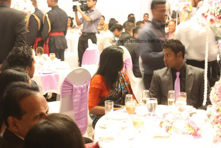 Angelo Mathews at Ajantha Mendis' wedding reception