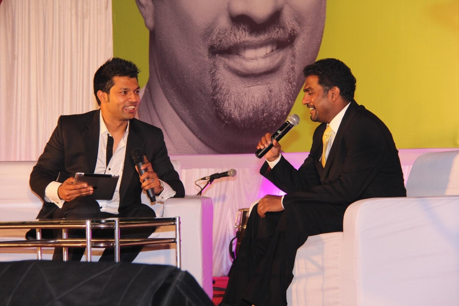 Murali at an event in India