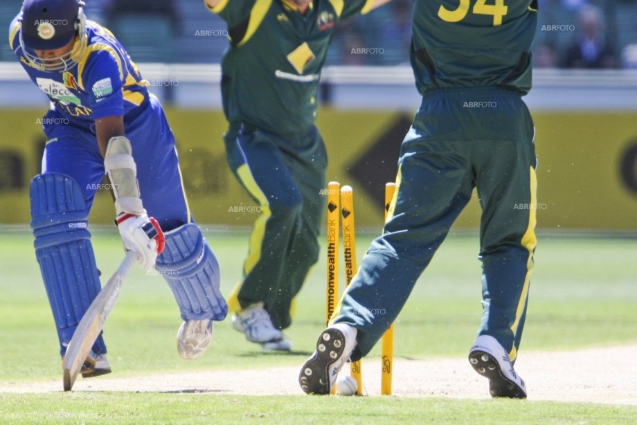 Mahela Jayawardena run out at the MCG