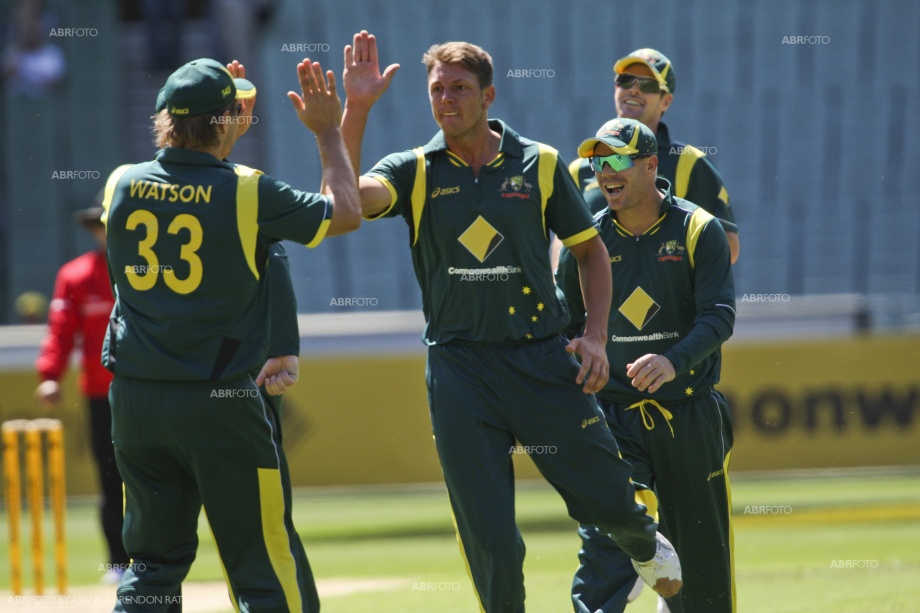 James Pattinson celebrates the wicket of Dilshan