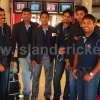 Romesh Kaluwitharana with Sri Lanka U19 players