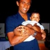 Farveez Maharoof with his daughter