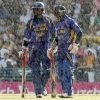 Jayasuriya and Sangakkara batting under heavy rain - WC 2007 Final