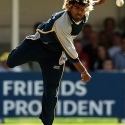 Lasith Malinga in action for Kent