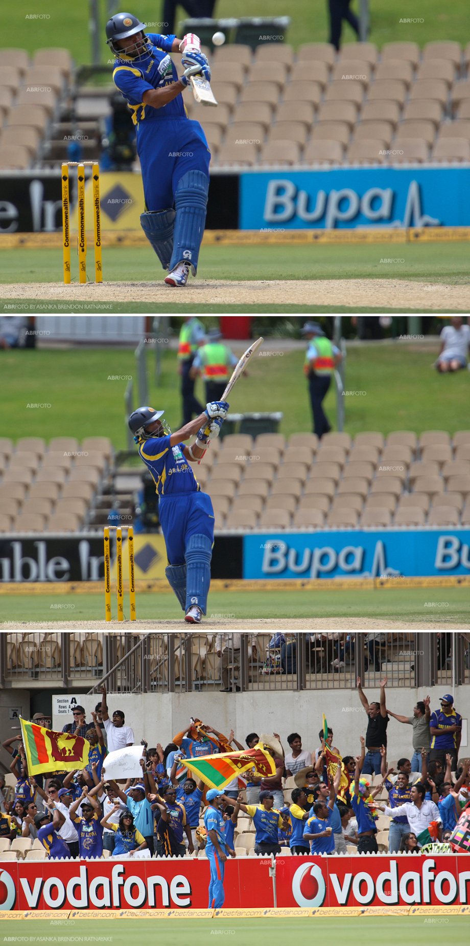 Dilshan pulls one over the ropes for six