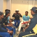 Sri Lanka A team players in the dressing room