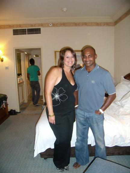 Sanath Jayasuriya with a female friend