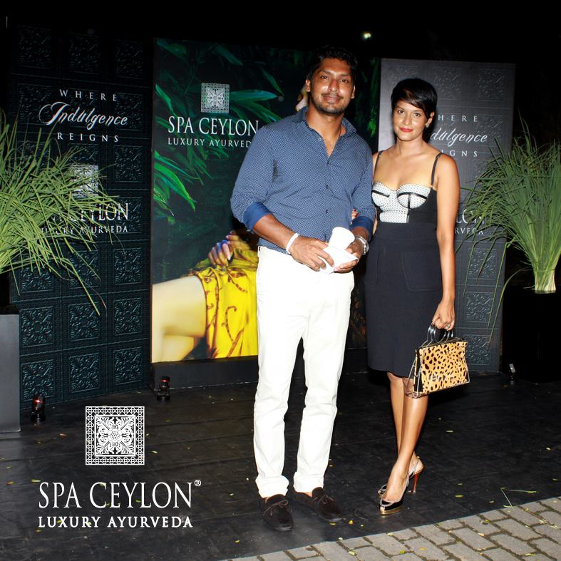 Kumar Sangakkara and wife at CFW Resort Wear Show 2013