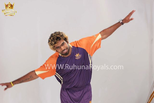Malinga wearing the Ruhuna Royals jersey