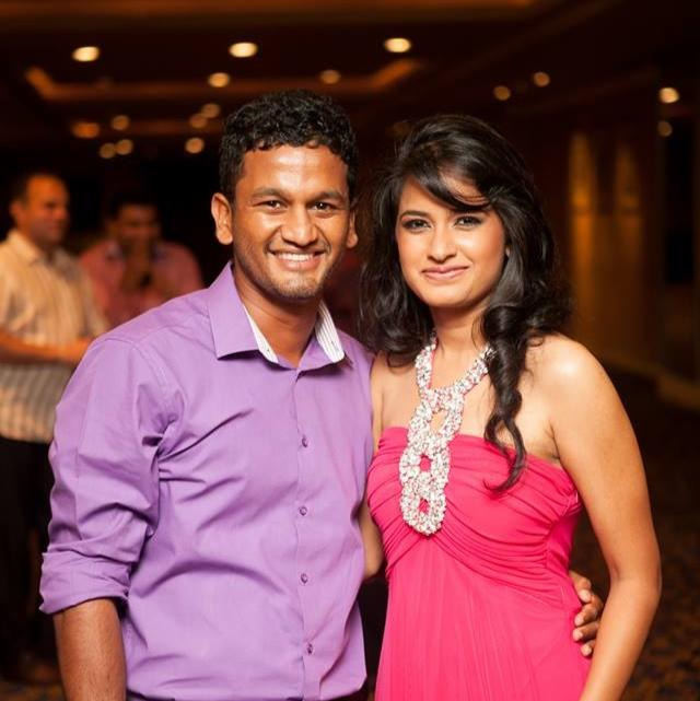 Dimuth Karunaratne poses for a pic