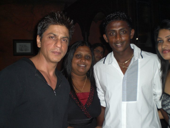 Ajantha Mendis with Shahrukh Khan