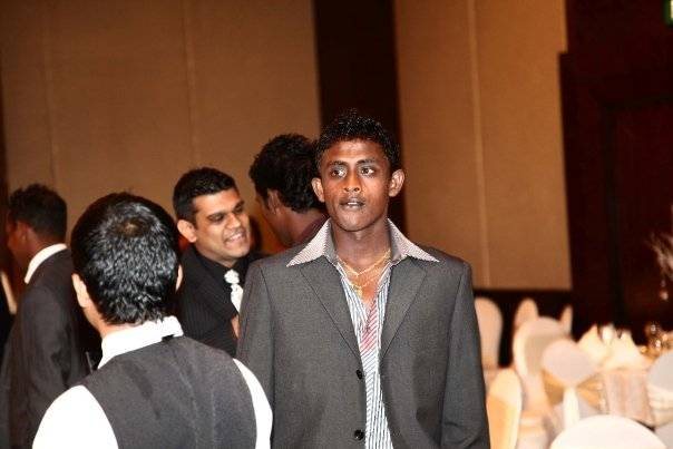 Ajantha Mendis at Maharoof's wedding ceremony