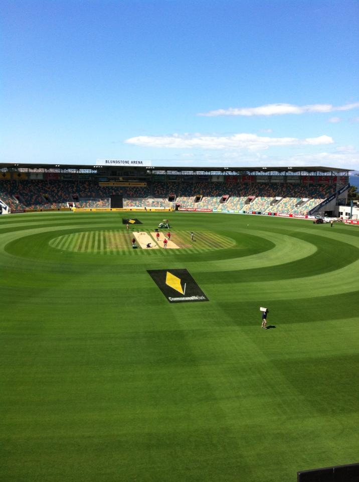 Bellerive Oval gets ready for final ODI between Sri Lanka and Australia