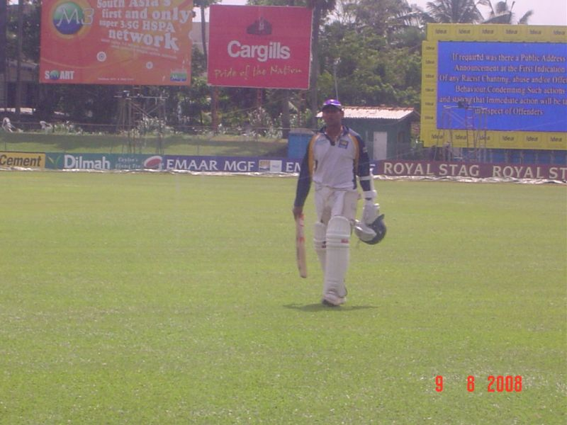 Tillakaratne Dilshan after a light knock-about