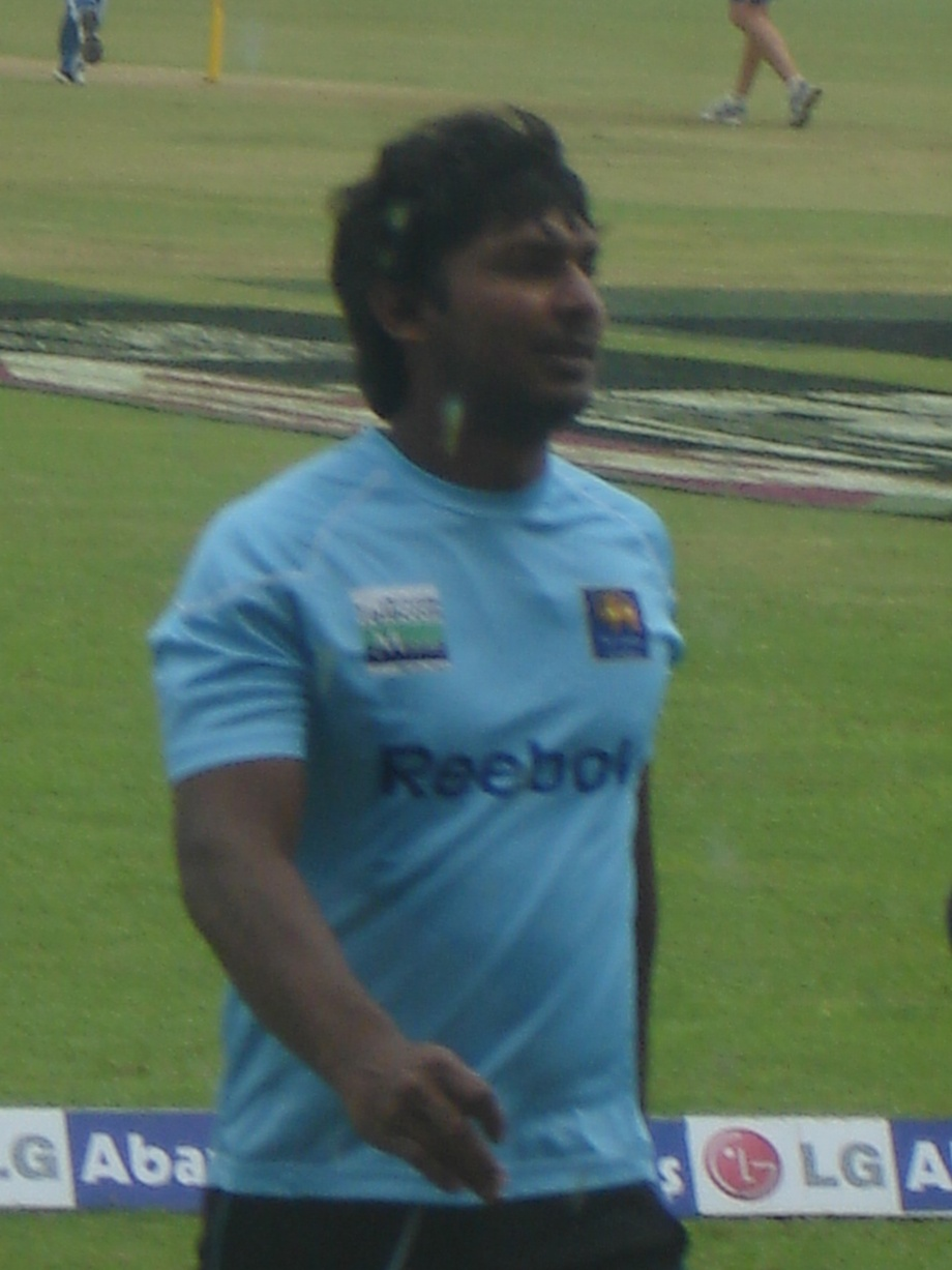 Sanga after his practice session
