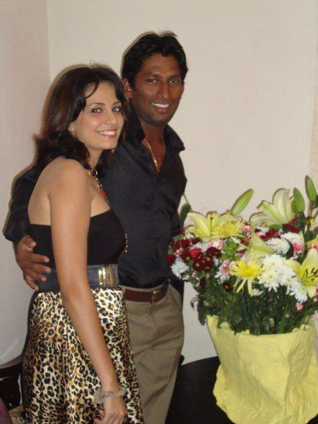 Jeevan Mendis with his wife