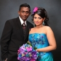 Ajantha Mendis and his wife Yoshini