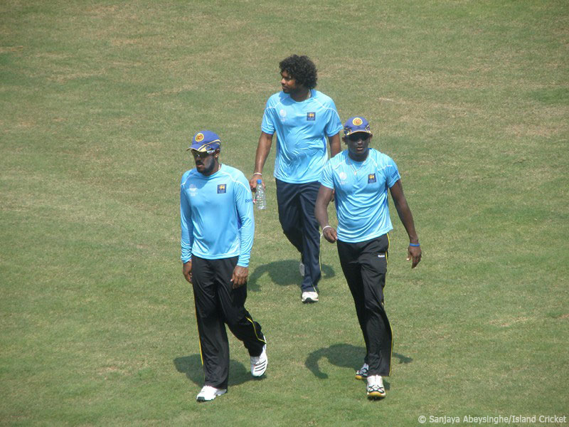 Malinga, Mendis and Kapugedera before the Pakistan clash