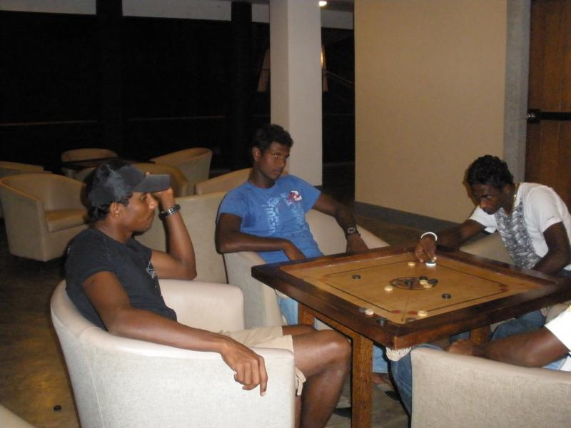 Ajantha Mendis perfecting his Carrom moves