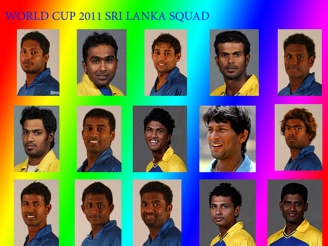 My squad for 2011 World Cup