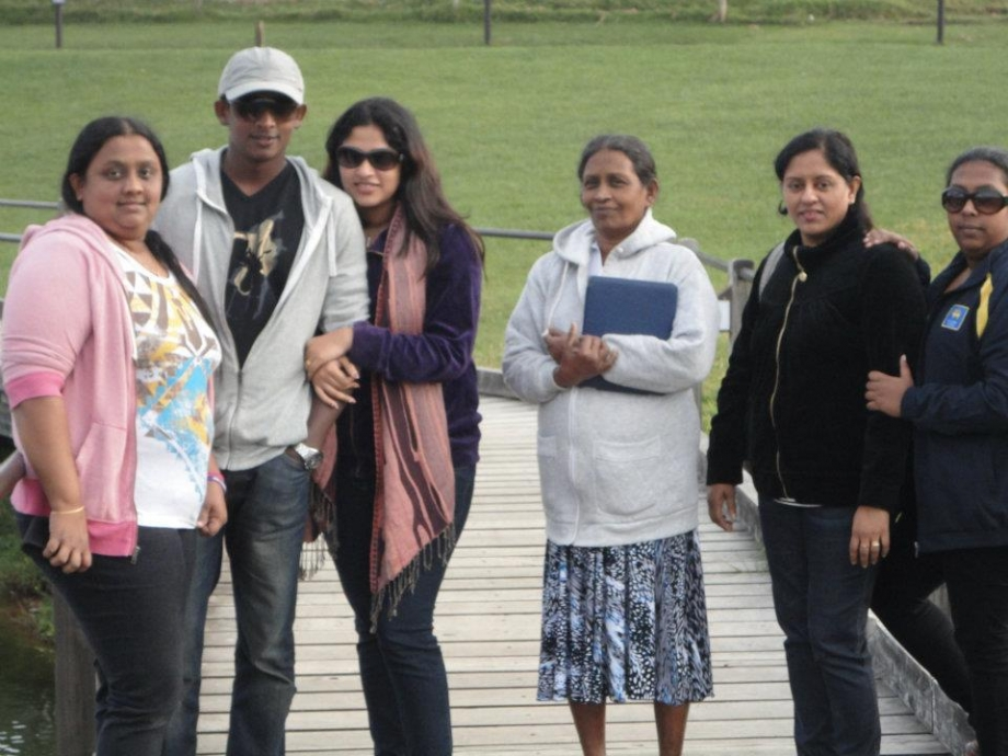 Ajantha Mendis with his family