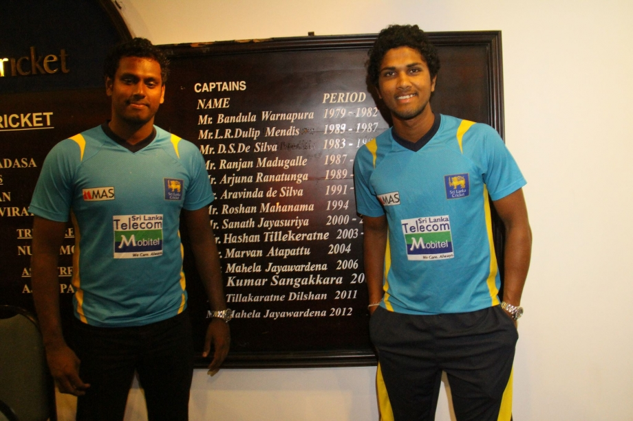 New captains Mathews and Chandimal at SLC Press Conference